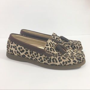 Sperry | Top Sider Leopard Print Loafers Tassels